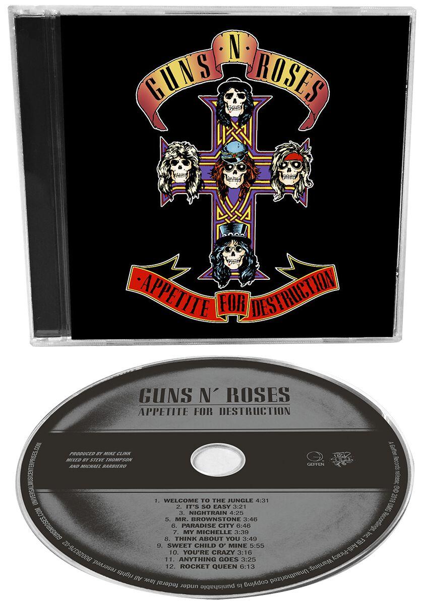 Image of   Guns N' Roses Appetite for destruction CD standard