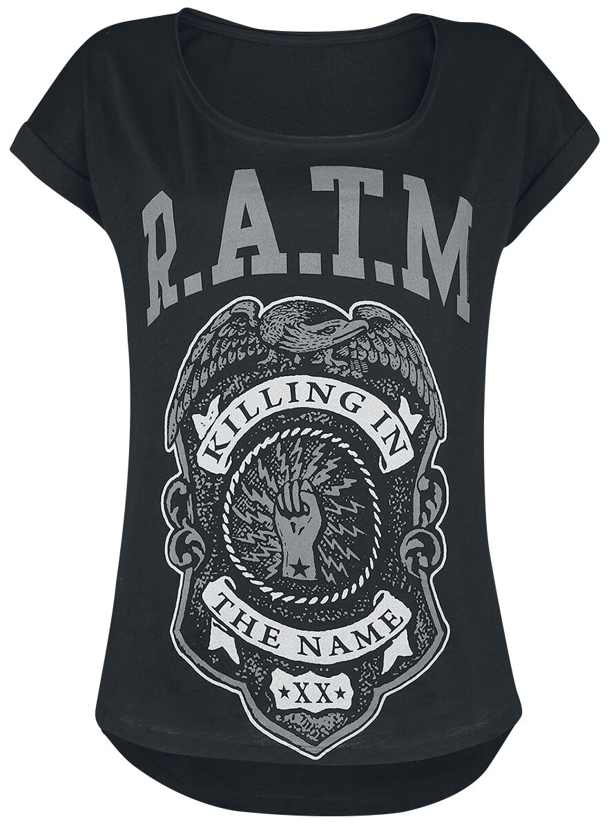 Rage Against The Machine Police Badge Koszulka damska czarny
