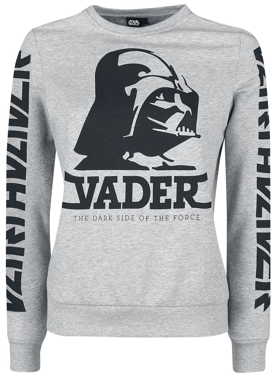 Image of   Star Wars Darth Vader Girlie sweatshirt grålig