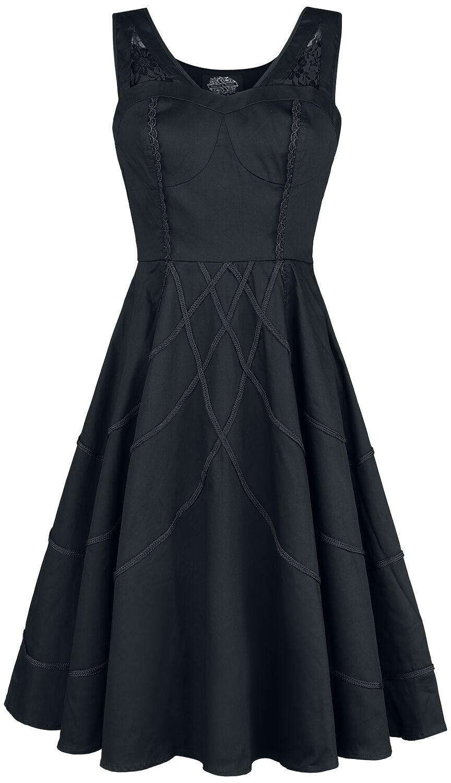 Image of   H&R London Braided Raven Dress Kjole sort