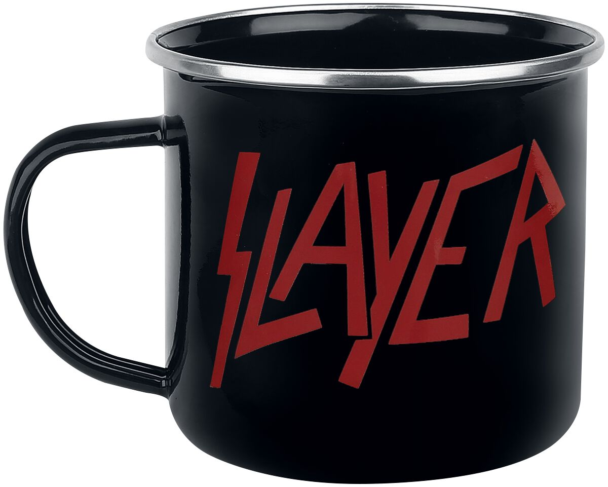Image of   Slayer Logo - Emaille Becher Krus sort