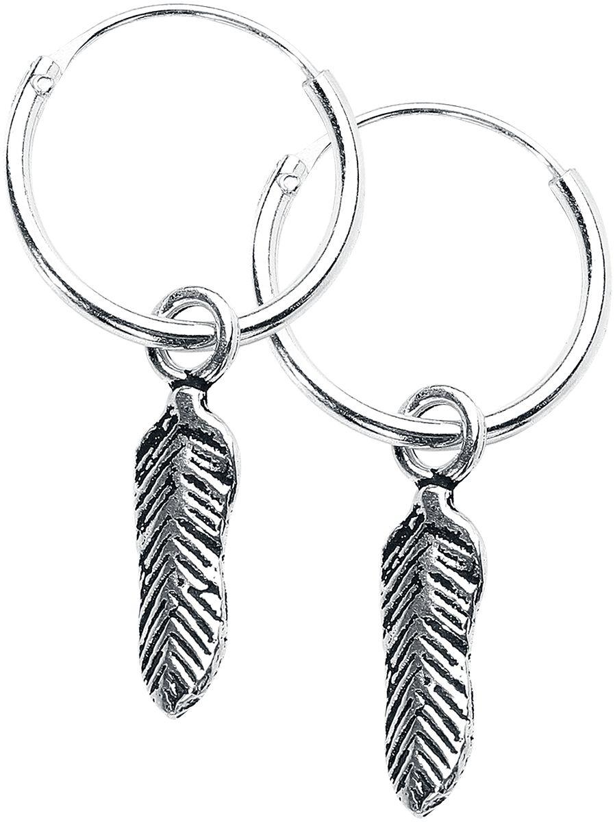 Ohrringe für Frauen - etNox Feder Ohrring Set silberfarben - Onlineshop EMP b9c8ceafa7