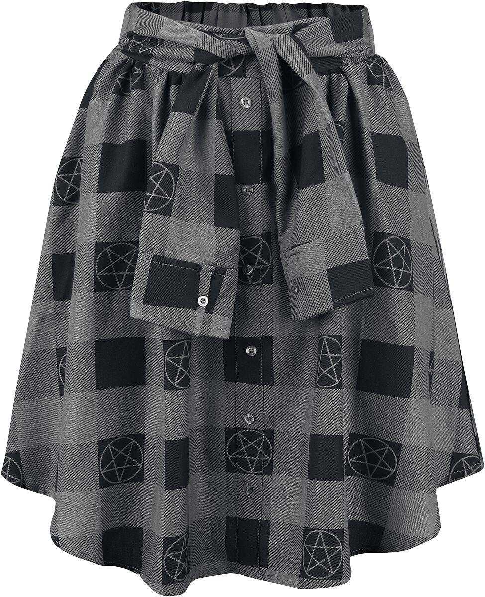 Image of   Supernatural Pentagramm Nederdel sort-grå