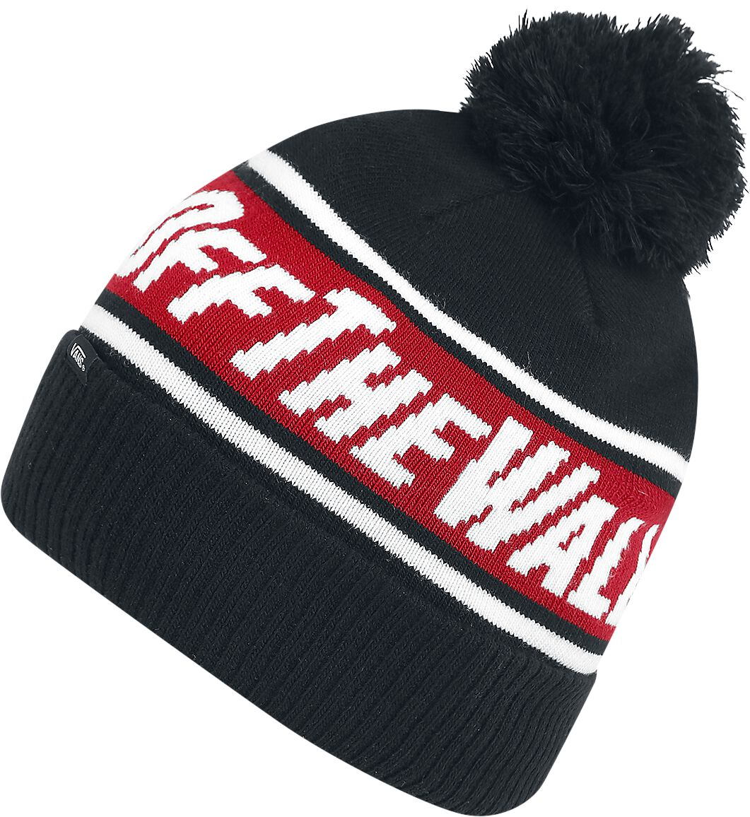 Image of   Vans Off The Wall Pom Beanie Beanie sort-rød