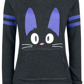 Kiki's Delivery Service Jiji Meow Ears Sweat-shirt Femme noir chiné