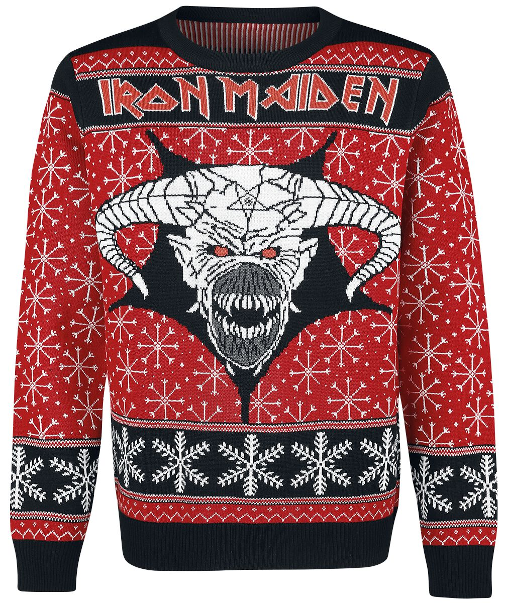 Image of   Iron Maiden Holiday Sweater 2018 Strikketrøje multifarvet