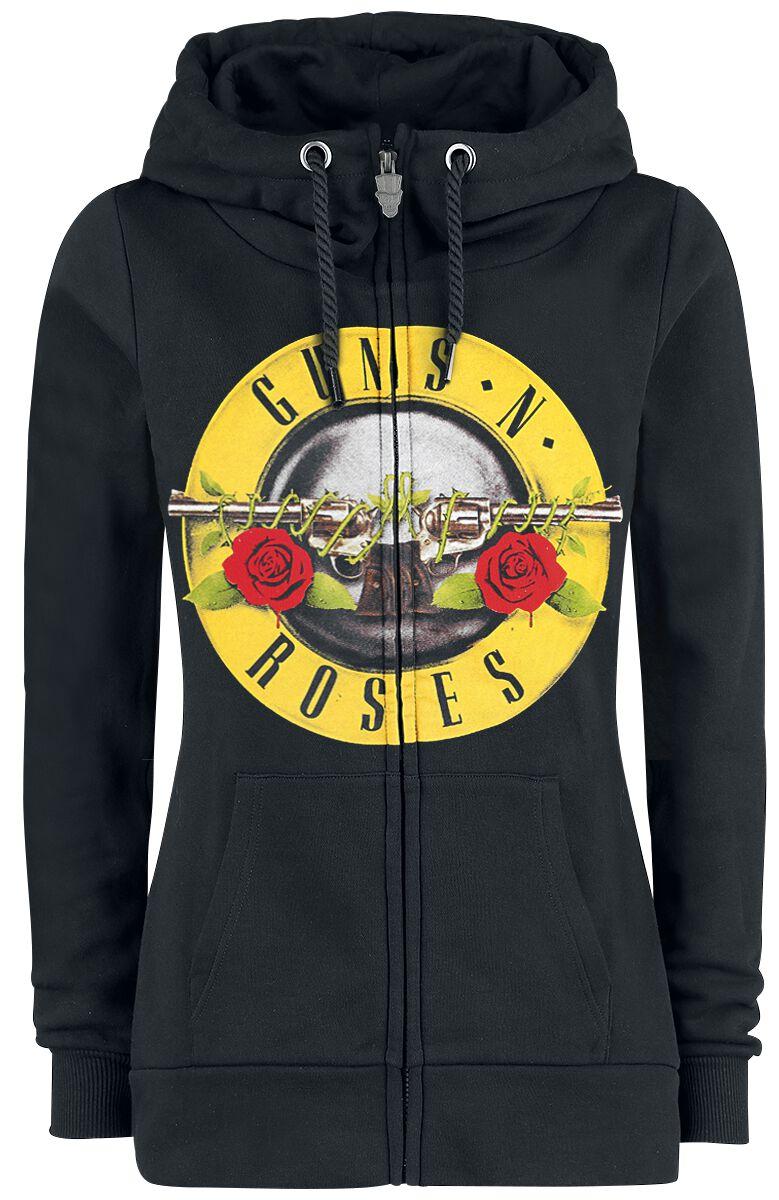huge selection of cb245 6ab3d Guns N  Roses Distressed Bullet Girlie hættejakke sort