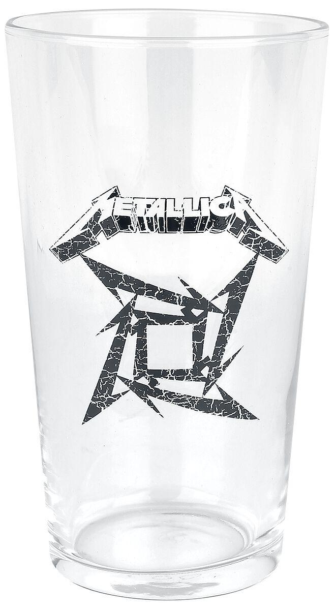 Metallica Ninja Star Logo Pint-Glas klar