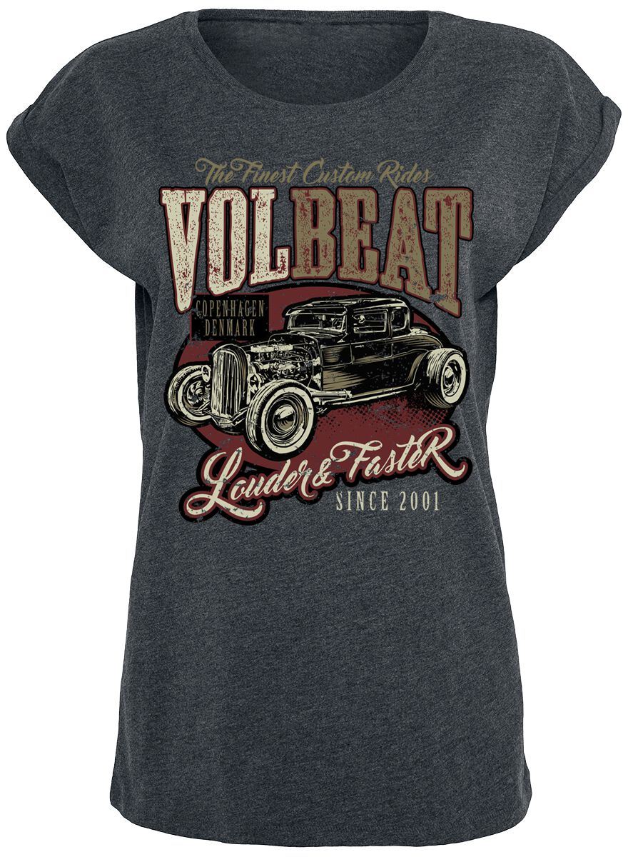 Image of   Volbeat Louder And Faster Girlie trøje mørk grålig