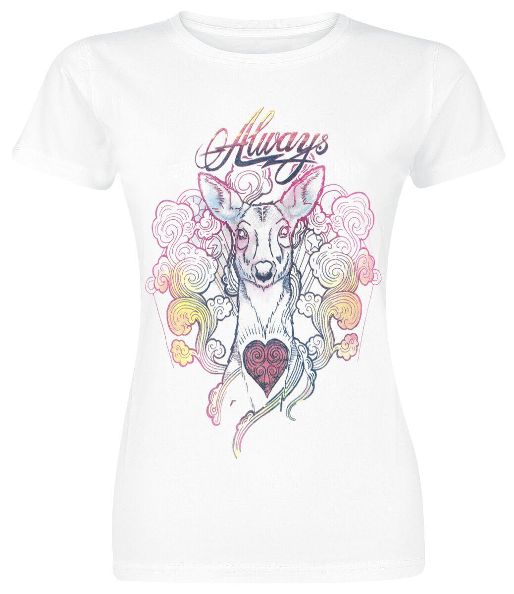 Image of   Harry Potter Always - Collage Girlie trøje hvid