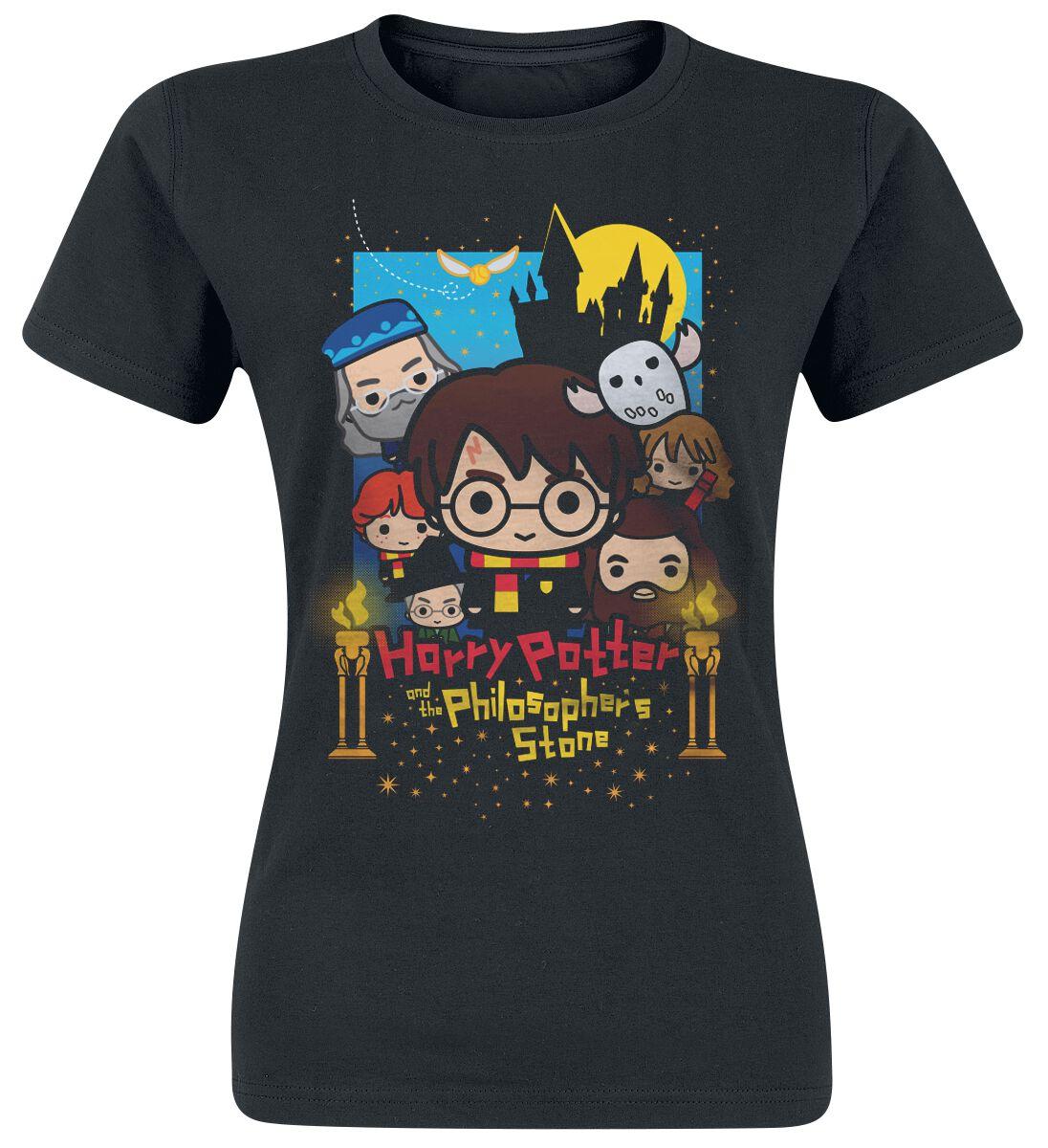 Image of   Harry Potter Cute - Poster Art Girlie trøje sort