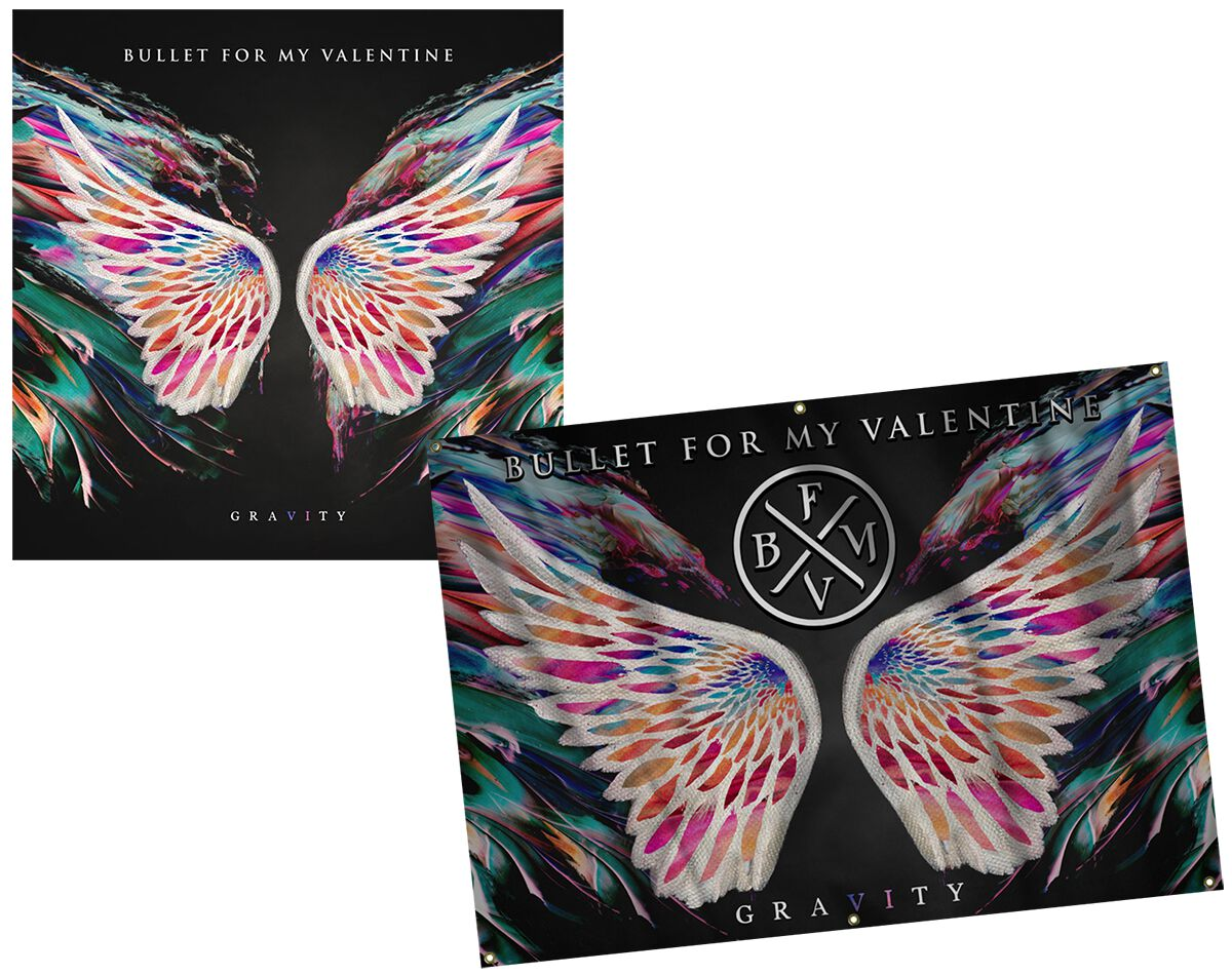 Bullet For My Valentine Gravity CD & Flagge Sta...