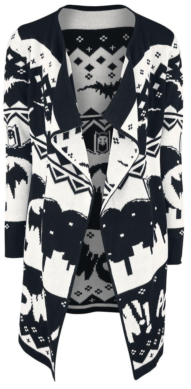 Image of   Batman Gotham Pigecardigan sort-hvid