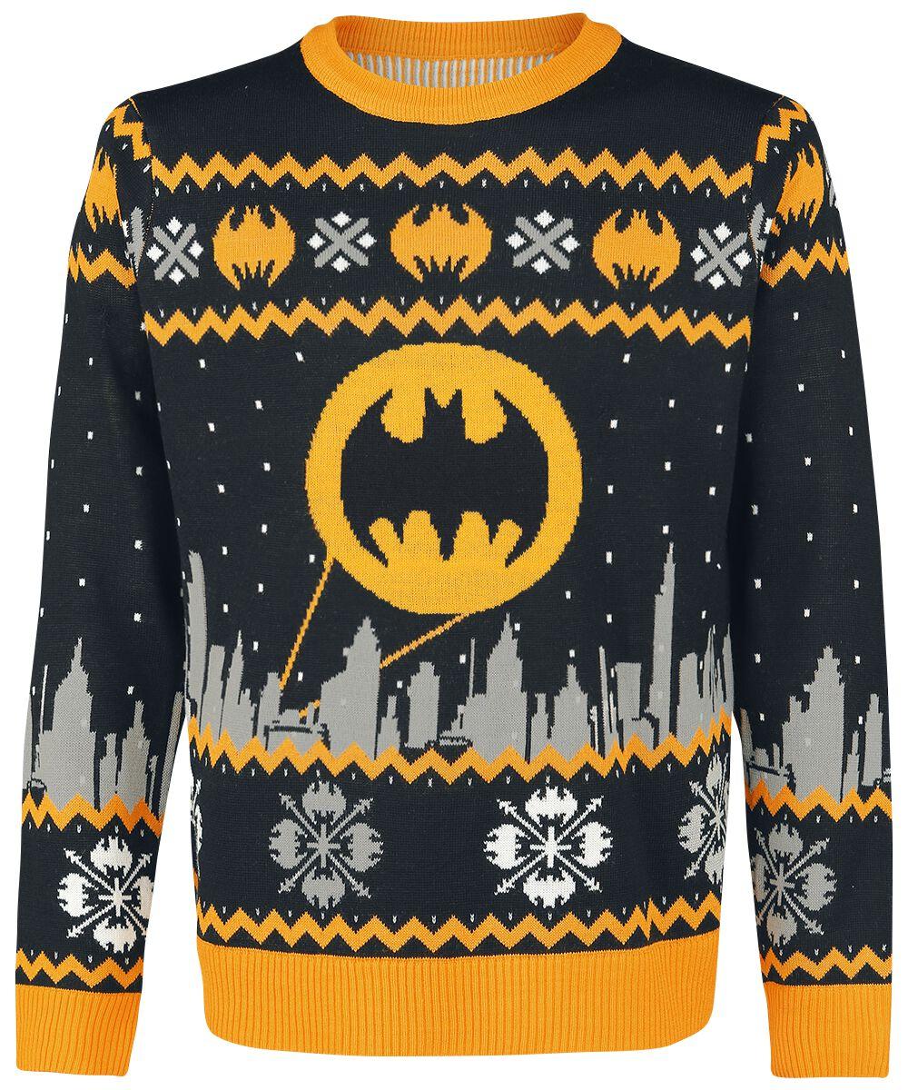 Image of   Batman Gotham Pullover sort-grå-gul