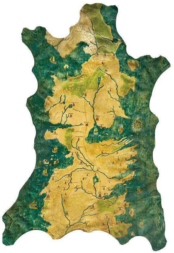 Image of   Game Of Thrones Replik 1/1 Karte von Westeros Stofplakat multifarvet