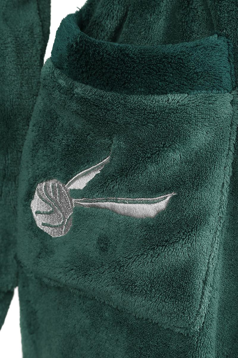 Image of Harry Potter Slytherin Bademantel dunkelgrün