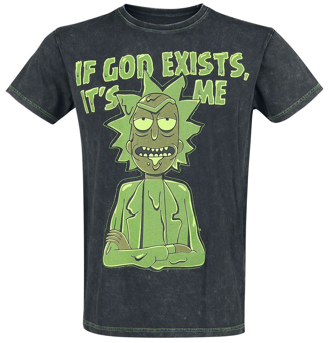 Image of   Rick And Morty If God Exists, It's Me T-Shirt sort
