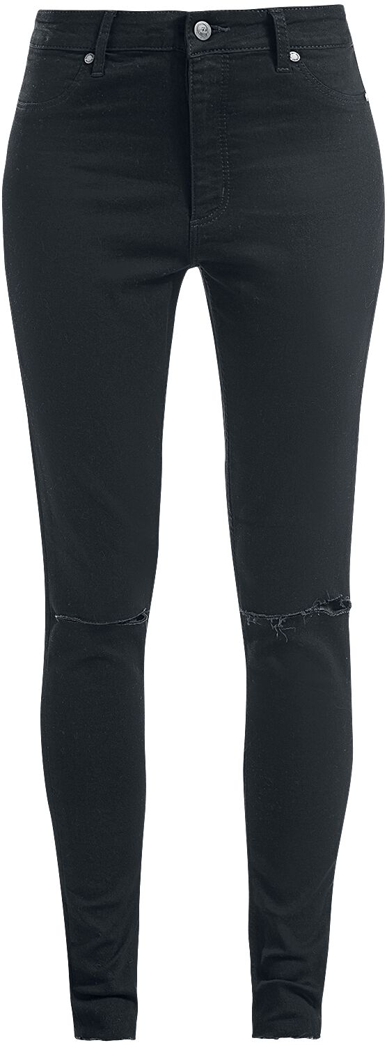 Image of   Cheap Monday High Spray Cut Black Jeans sort