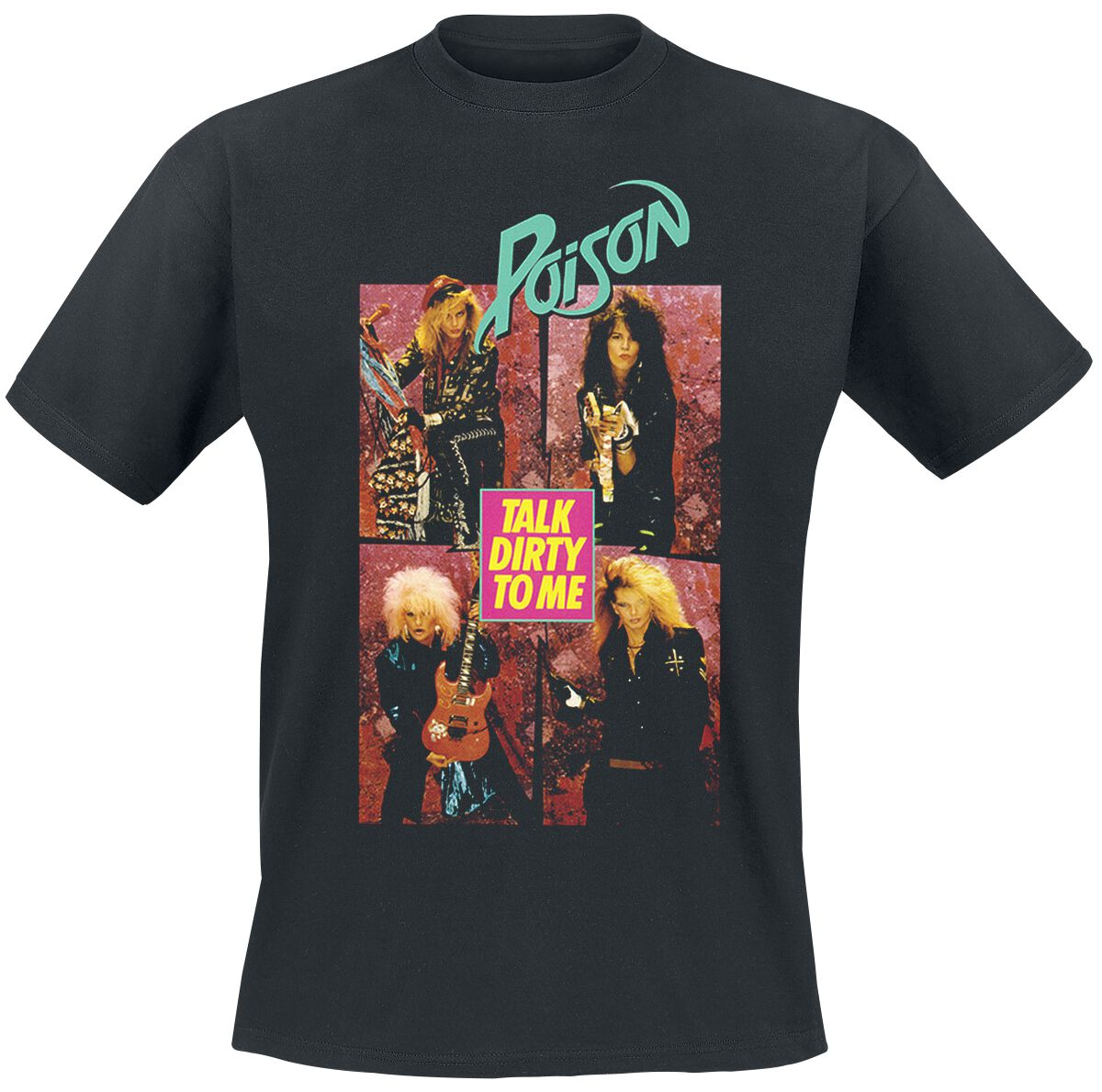 Poison Talk Dirty To Me T-Shirt schwarz