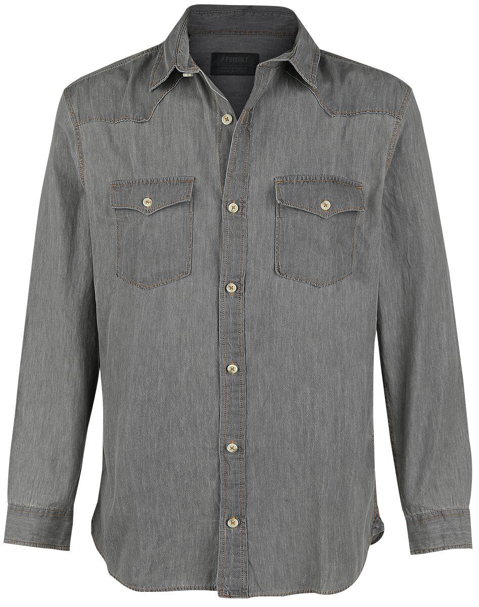 Image of   Produkt Next Western Shirt Skjorte grå