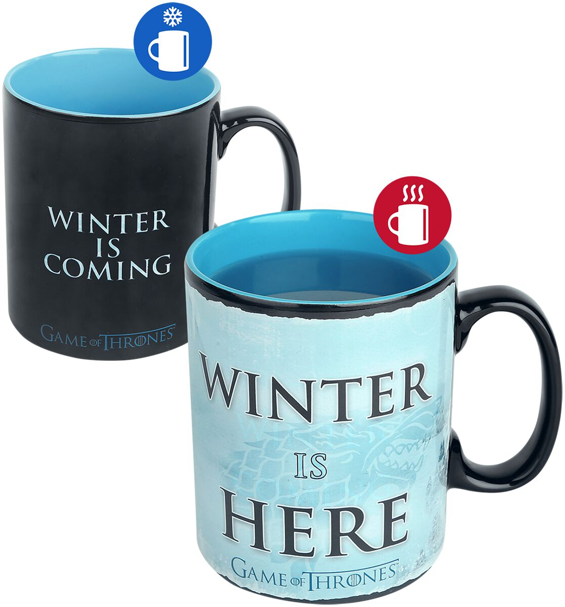 Image of   Game Of Thrones Winter Is Here - motivskiftende krus Krus multifarvet