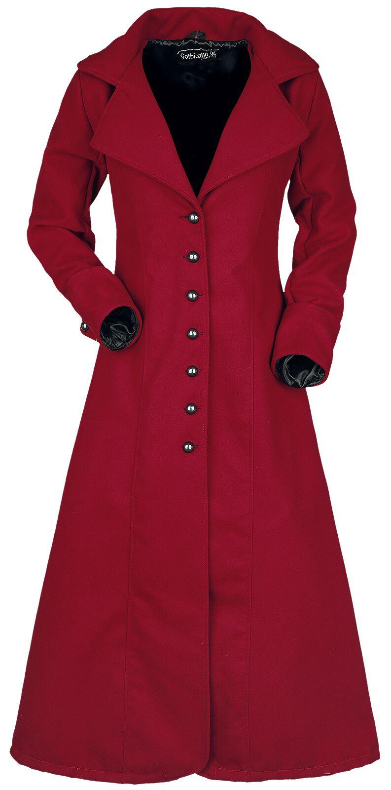 Desdemona Abrigo Mujer Rojo