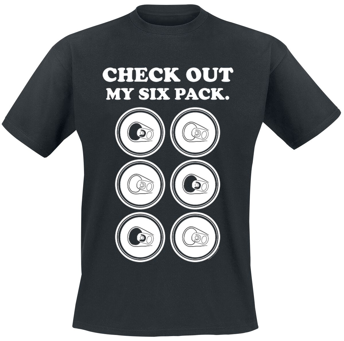 Image of   Check Out My Six Pack. T-Shirt sort