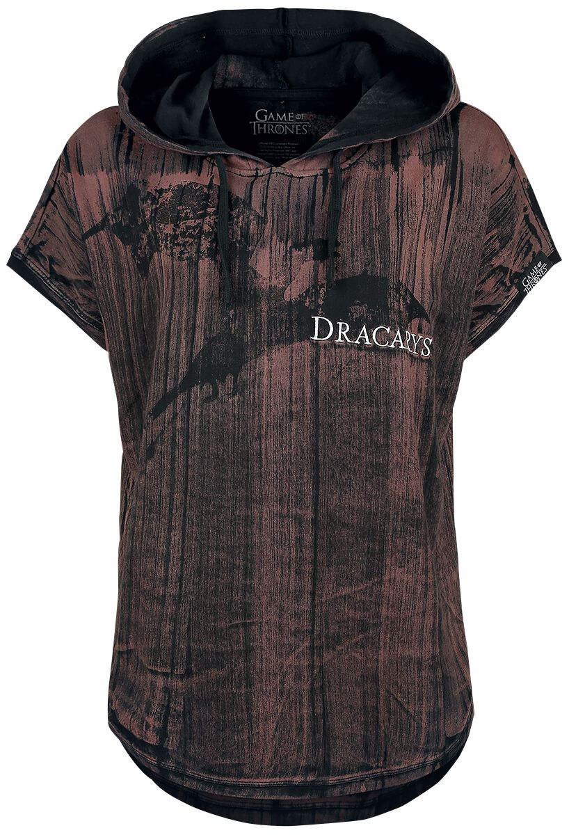 Image of   Game Of Thrones Dracarys! Girlie trøje mørk rød