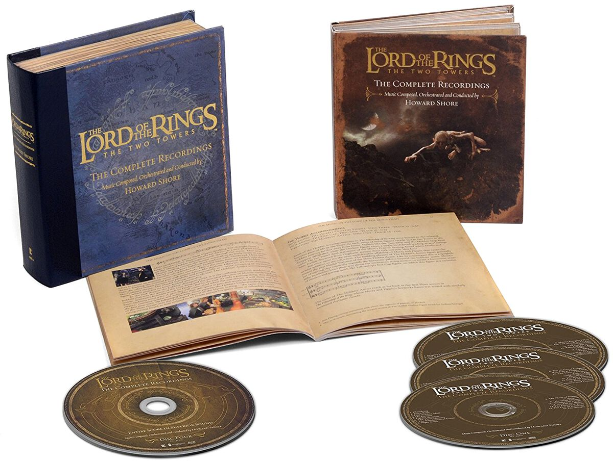 Image of   Ringenes Herre The lord of the rings: The two towers - The complete recordings 3-CD & Blu-ray standard
