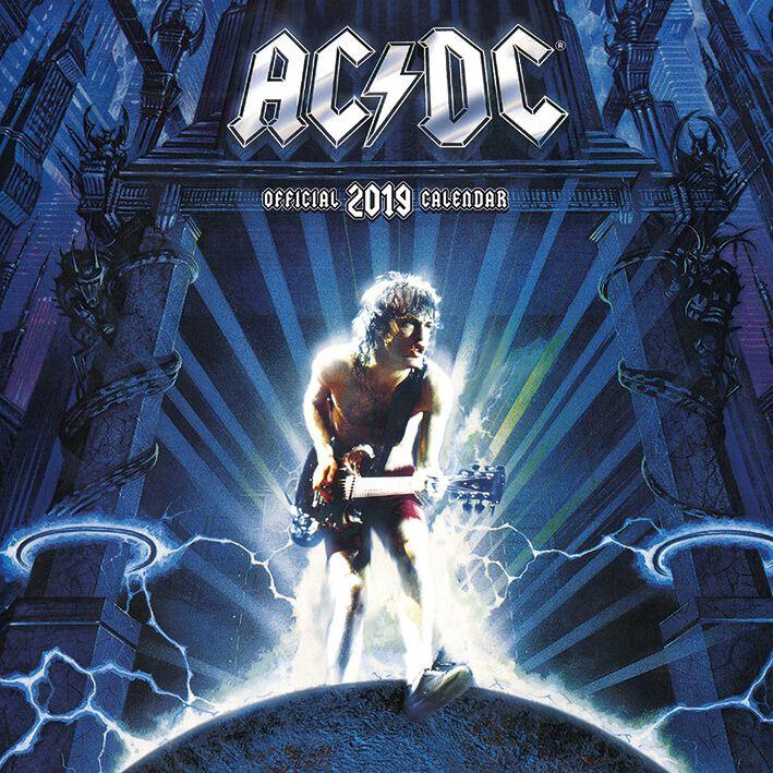 Image of   AC/DC 2019 Vægkalender multifarvet
