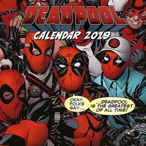Deadpool 2019 Calendrier mural multicolore