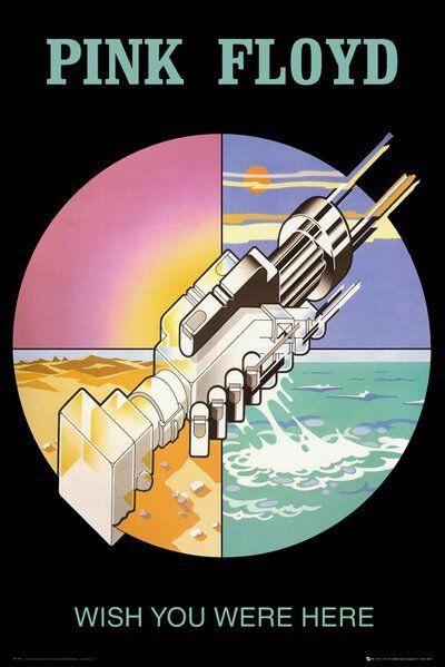 Image of   Pink Floyd Wish you were here Plakat multifarvet