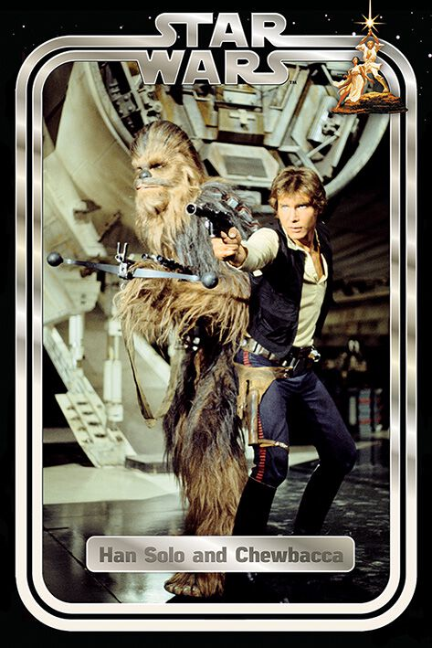 Image of   Star Wars Classic - Han and Chewie Retro Plakat multifarvet