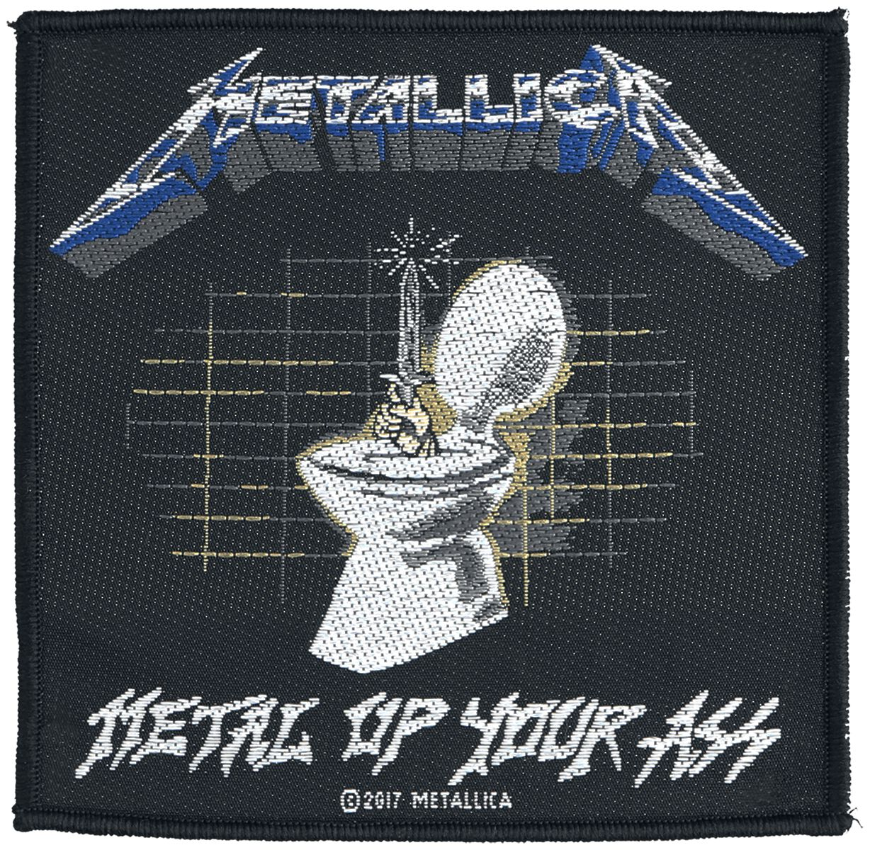 Metallica Metal Up Your Ass Patch Mehrfarbig