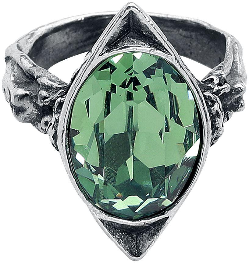 Image of   Alchemy Gothic Absinthe Fairy Spirit Crystal Ring Ring sølvfarvet