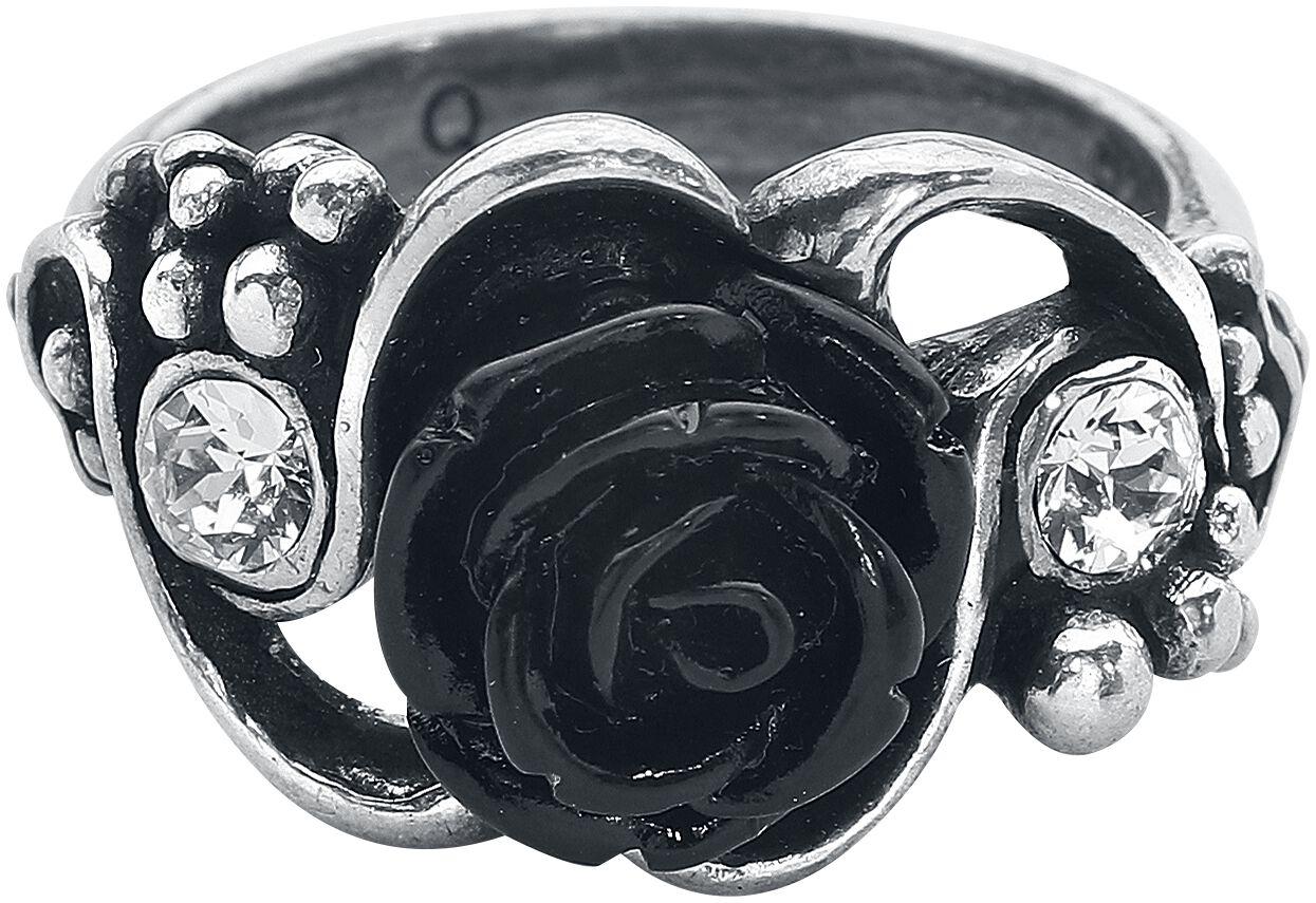 Image of   Alchemy Gothic Bacchanal Rose Ring Ring sølvfarvet