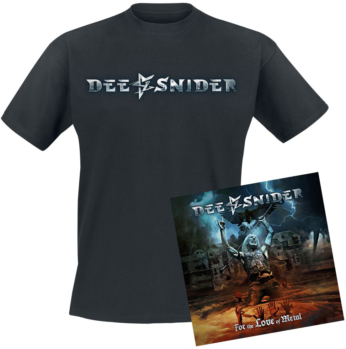 Image of   Snider, Dee For the love of metal CD & T-Shirt standard
