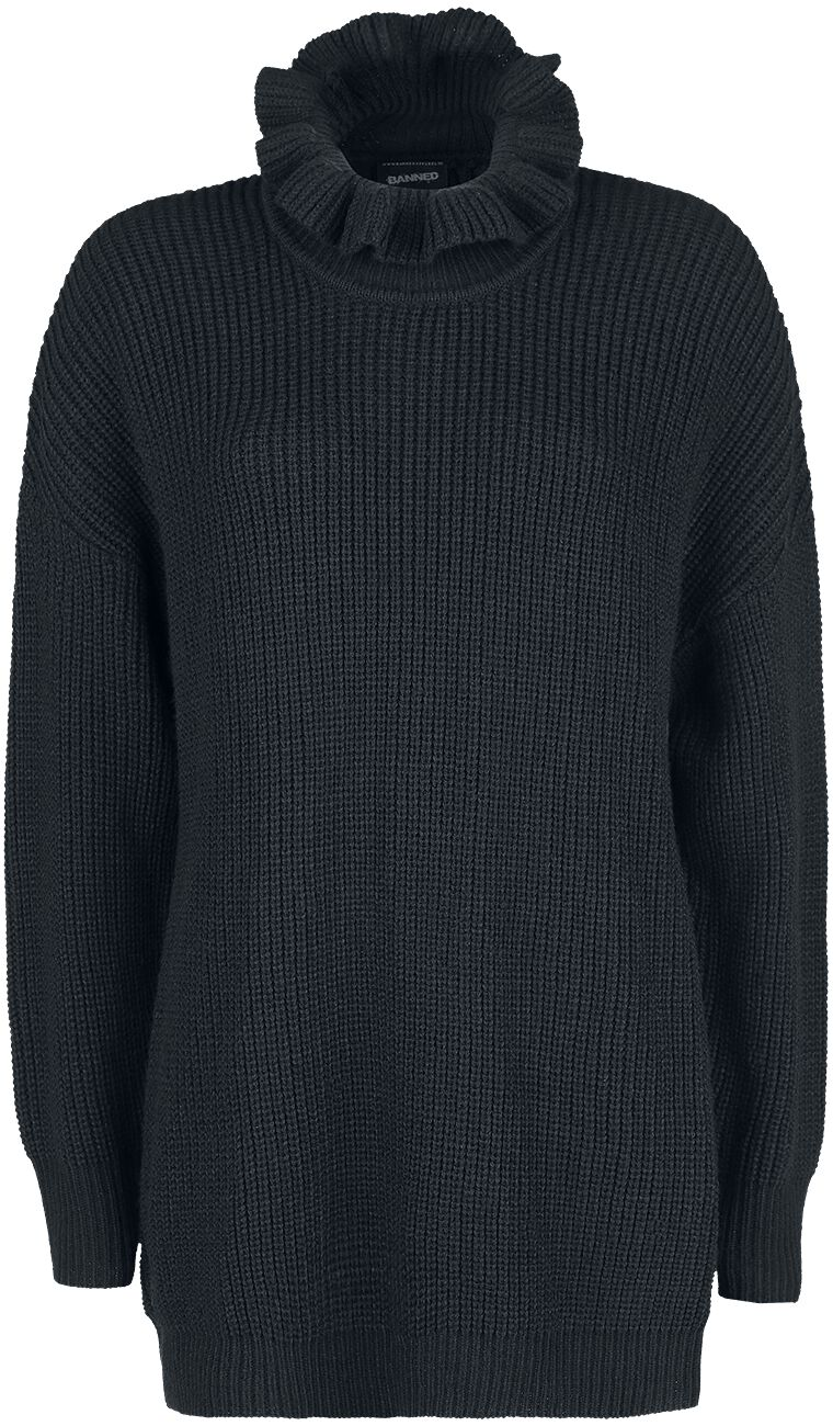 Image of   Banned Alternative Collar Knit Girlie sweater sort