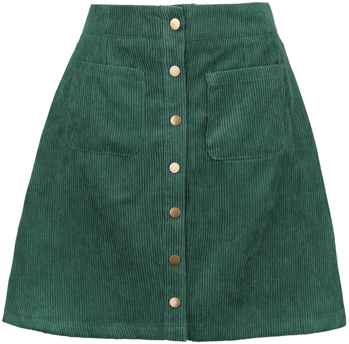 Image of   Banned Alternative Cord Skirt Minikjole grøn