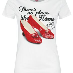 The Wizard Of Oz There's No Place Like Home T-shirt Femme blanc cassé