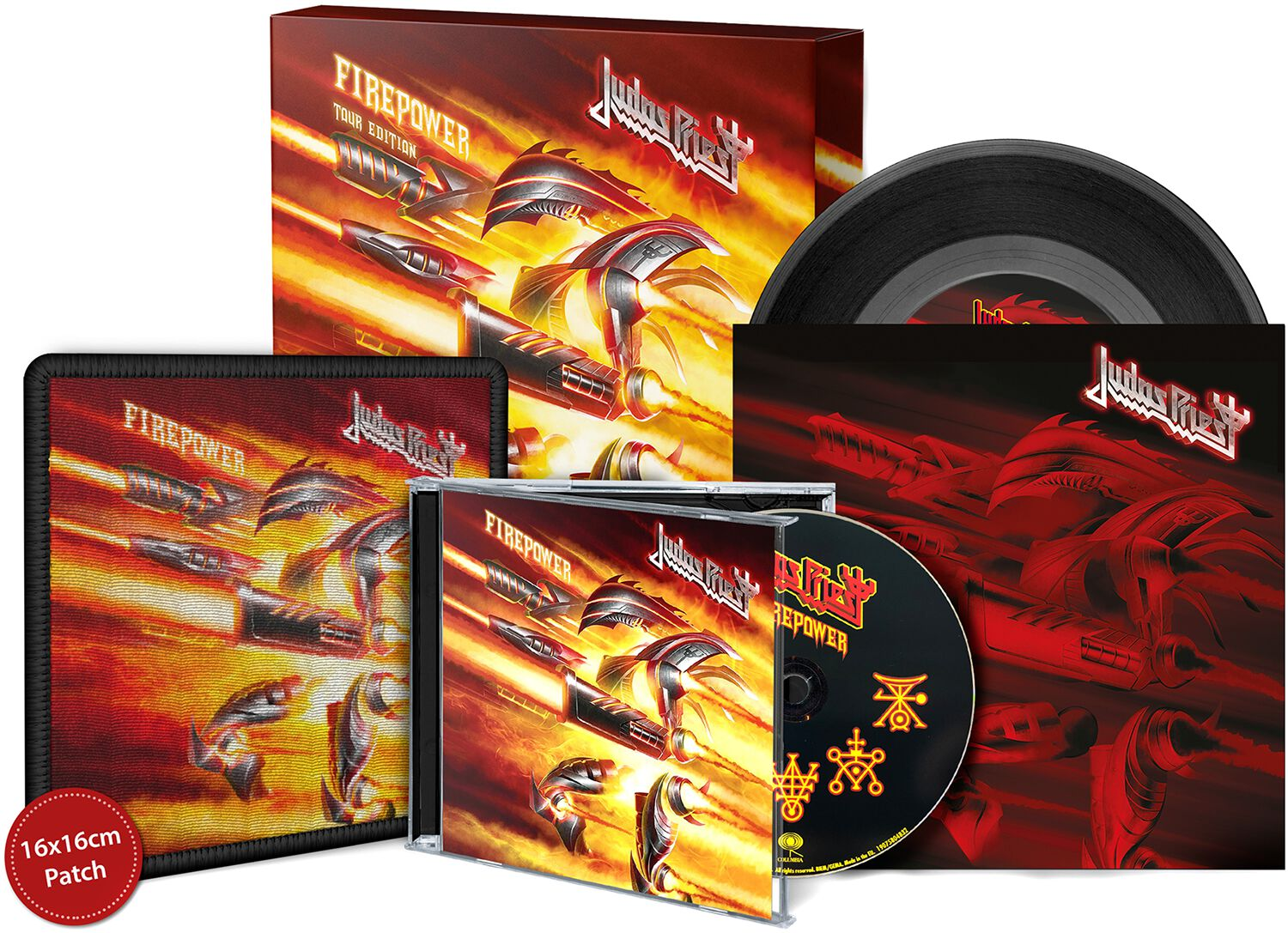 Image of   Judas Priest Firepower - Tour Edition CD & 7 inch standard