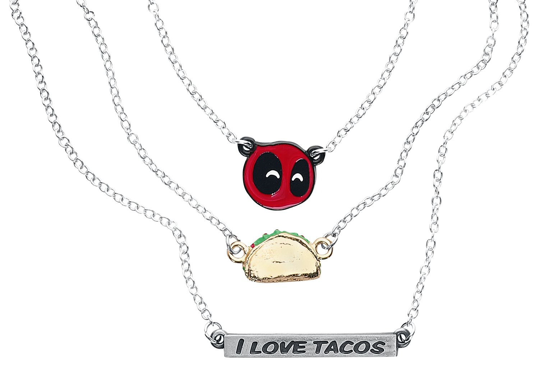 Image of   Deadpool Tacos Halskæde sølvfarvet