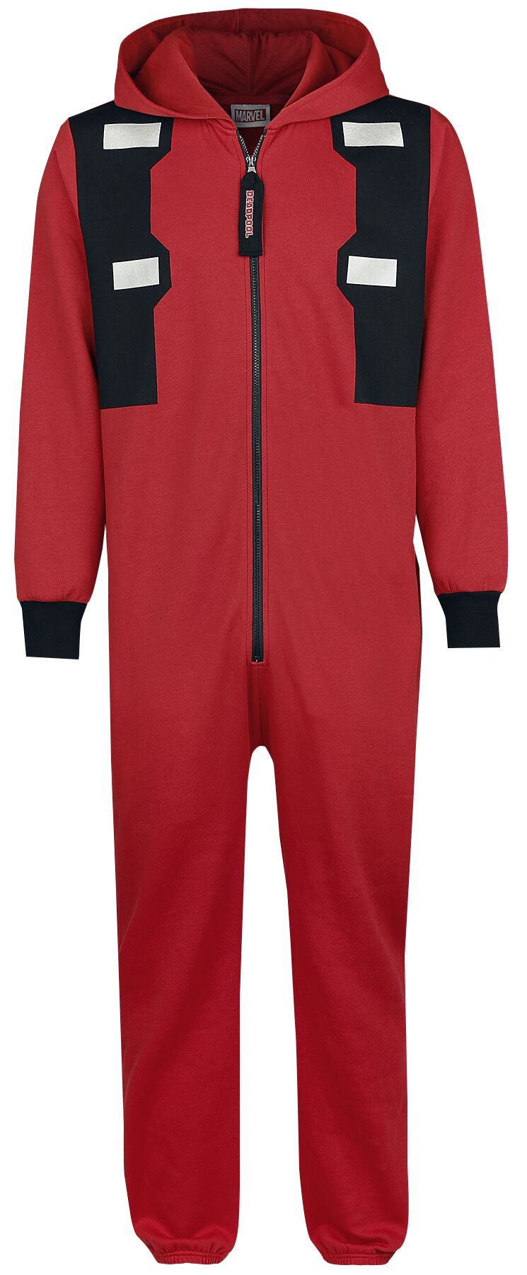 Image of   Deadpool Logo Jumpsuit rød-sort