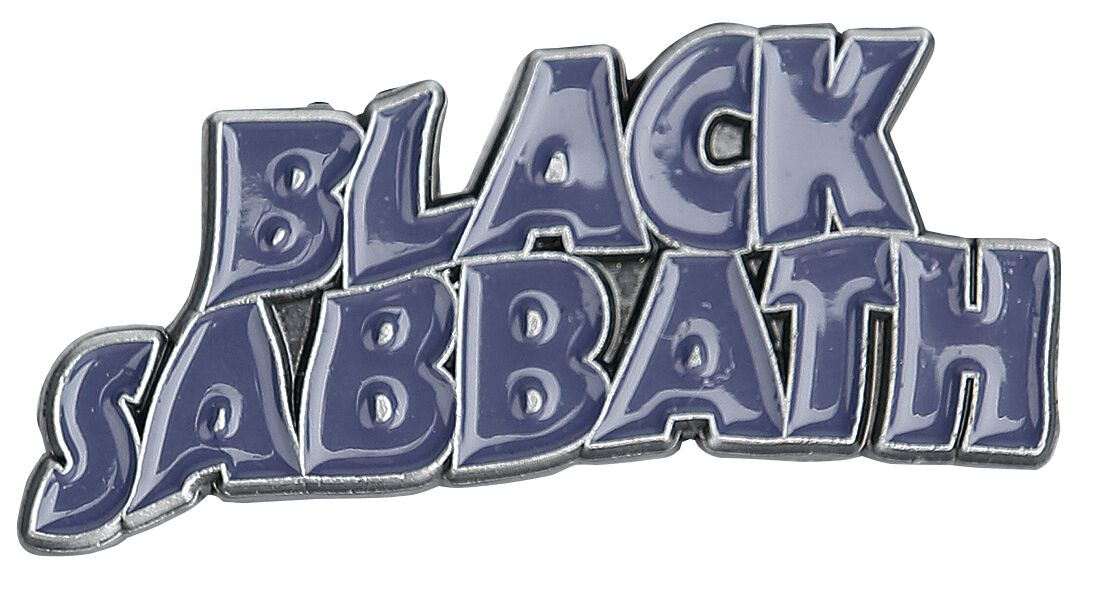 Black Sabbath Purple Wavy Logo Pin lila