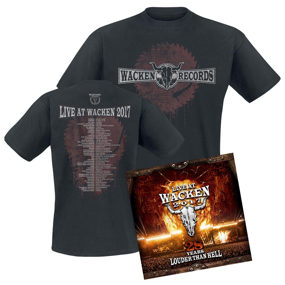 Image of   Wacken Live at Wacken 2017 - 28 years louder than hell 2-DVD & 2-CD & T-shirt standard