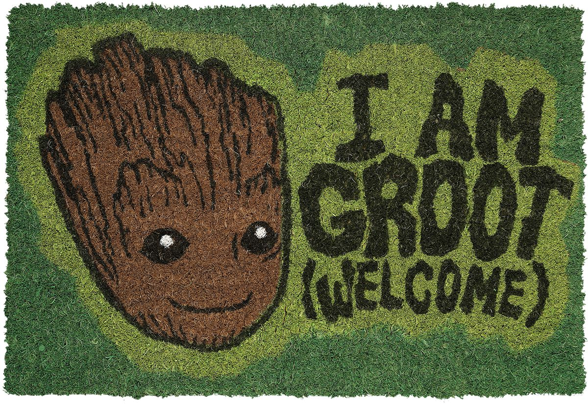 Image of   Guardians Of The Galaxy Vol.2 - I am Groot - Welcome Dørmåtte multifarvet