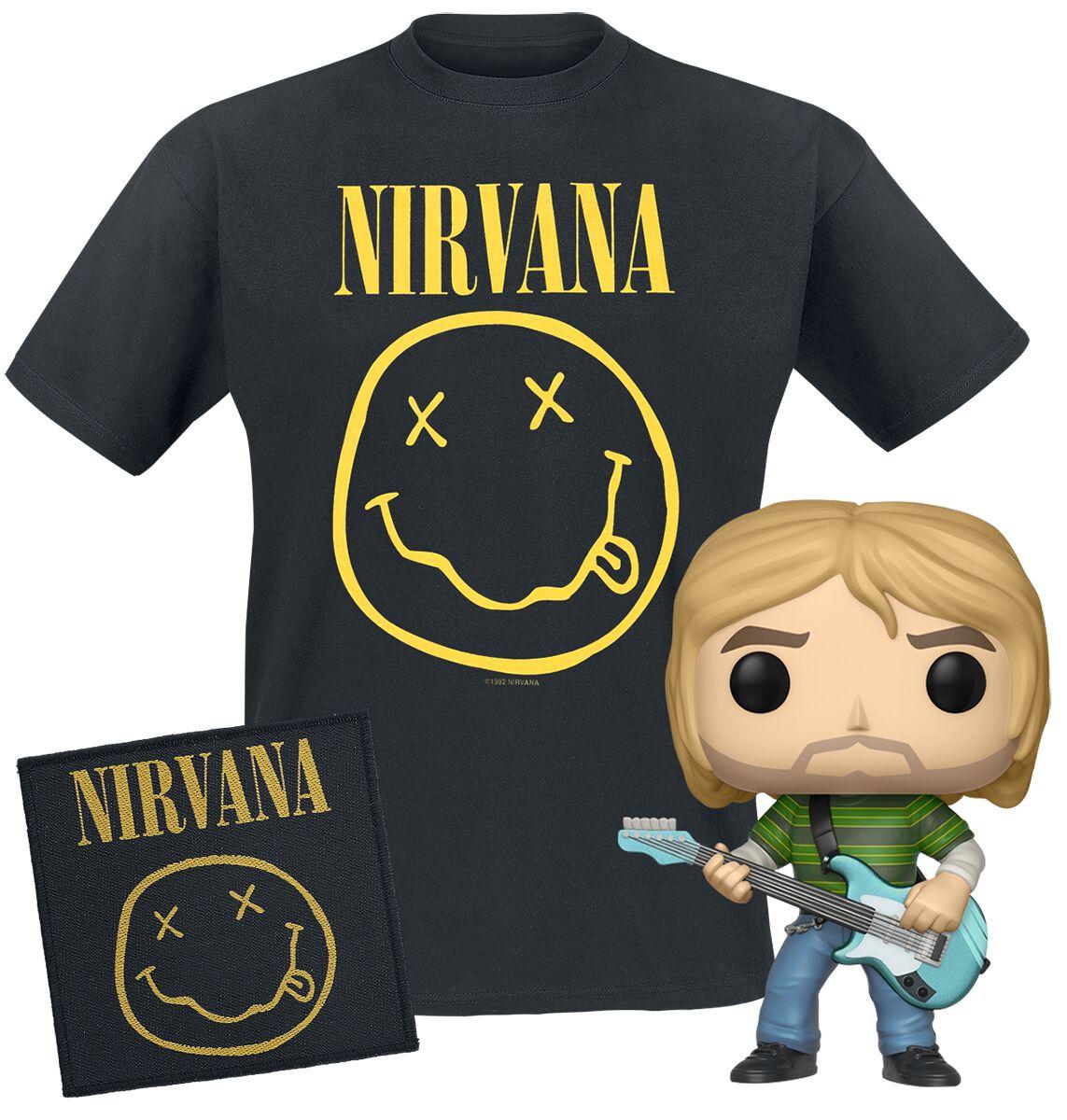 Nirvana Nirvana Bundle T-Shirt & Funko & Patch ...