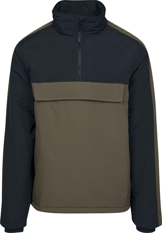 Image of   Urban Classics 2-Tone Padded Pull Over Jacket Jakke olivengrøn-sort