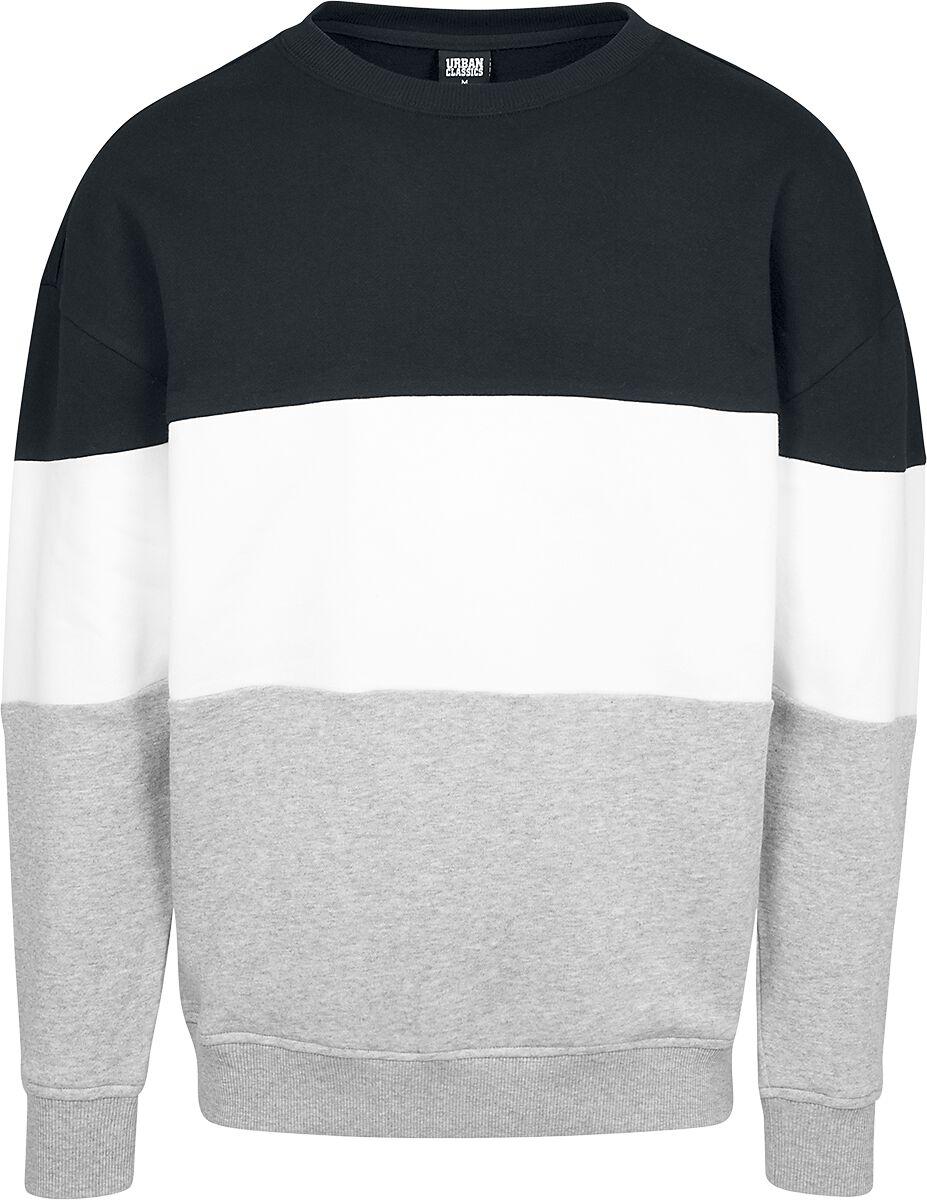 Image of   Urban Classics 3-Tone Oversize Crewneck Sweatshirt sort