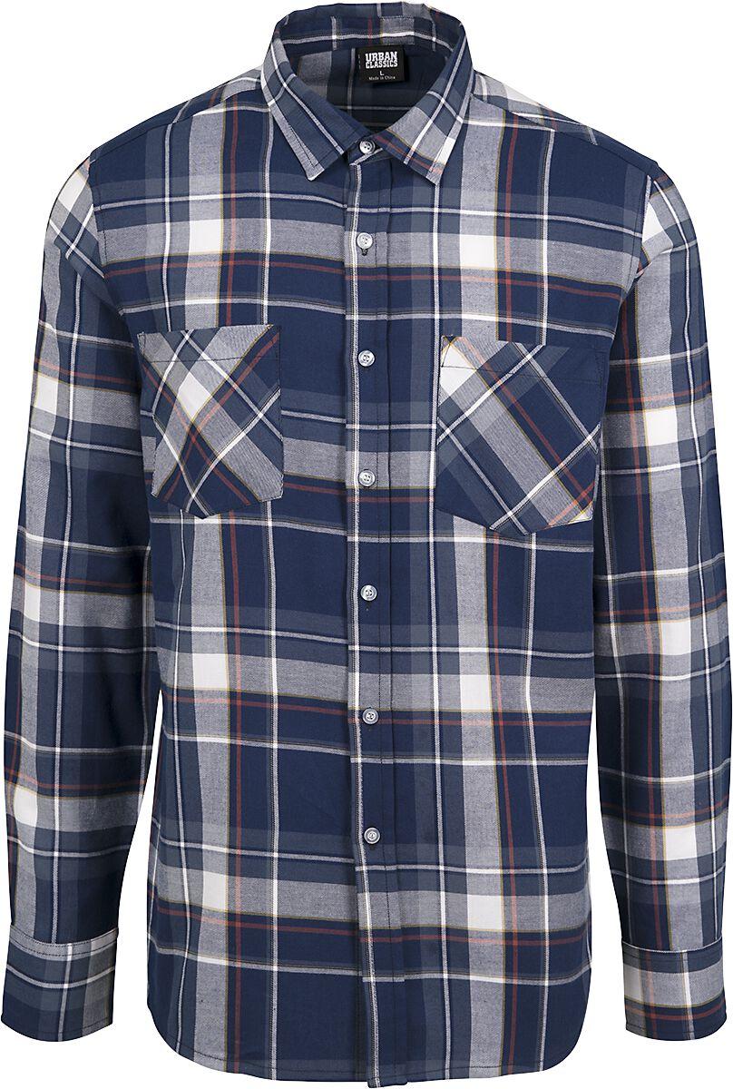 Image of   Urban Classics Check Shirt Skjorte blå-hvid-rød